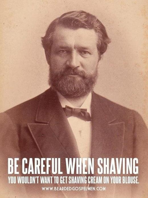 be careful when shaving
