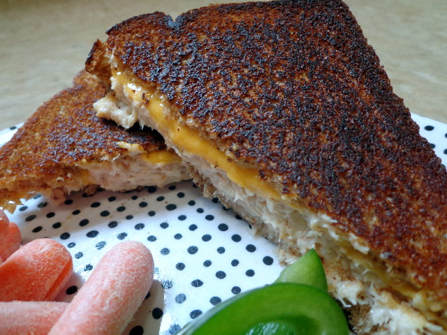 smoked trout grilled cheese