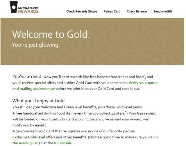 starbucks gold