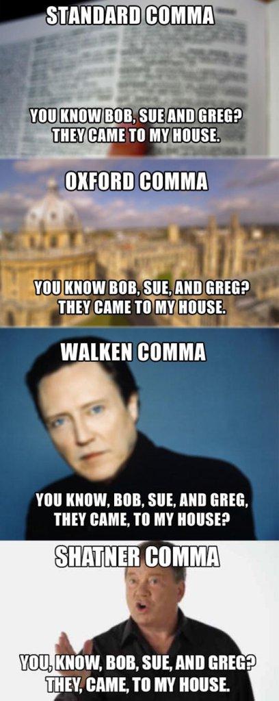 types of commas