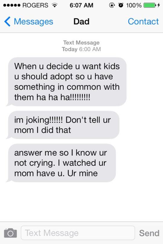 adopt a sense of humor