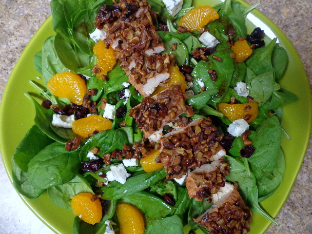 copycat tgif pecan crusted chicken salad2