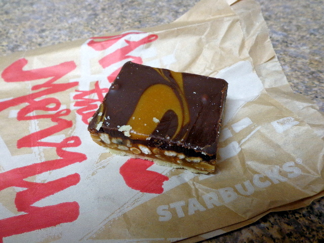 starbucks caramel pretzel bar