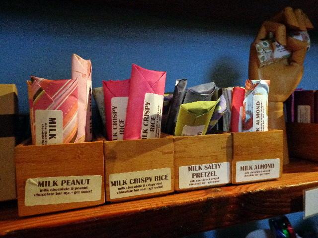 candy at chocolate bar