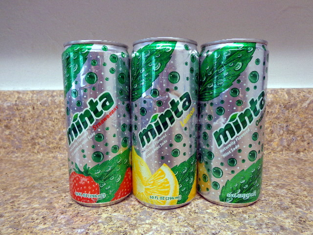 minta mint soda flavored with cane sugar