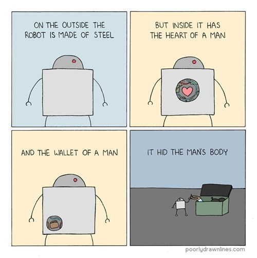 the heart of a man - poorly drawn lines